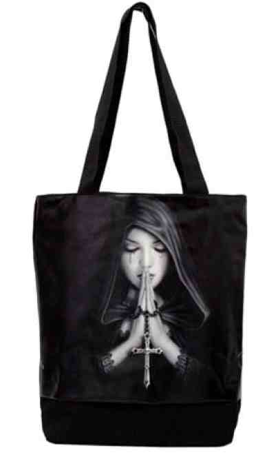 Gothic Prayer Tote Bag