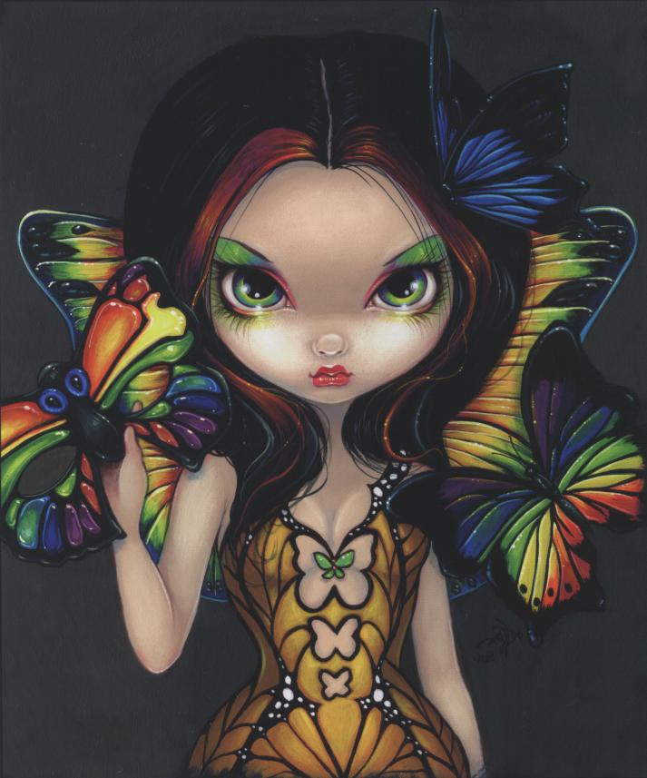 Fairy with Butterfly Mask